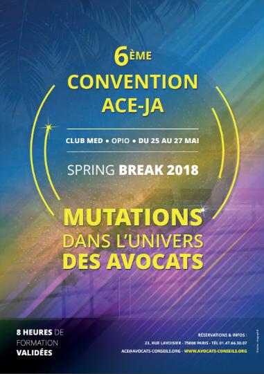 Convention ACE spring break 2018