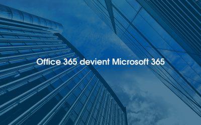 Office 365 : changement de nom